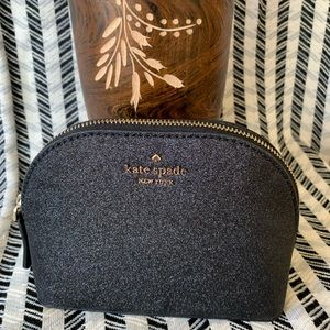 New Kate spade joeley small cosmetic dome black